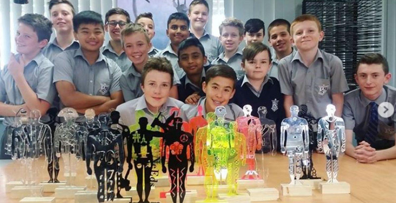 Creative Year 7 Art Students