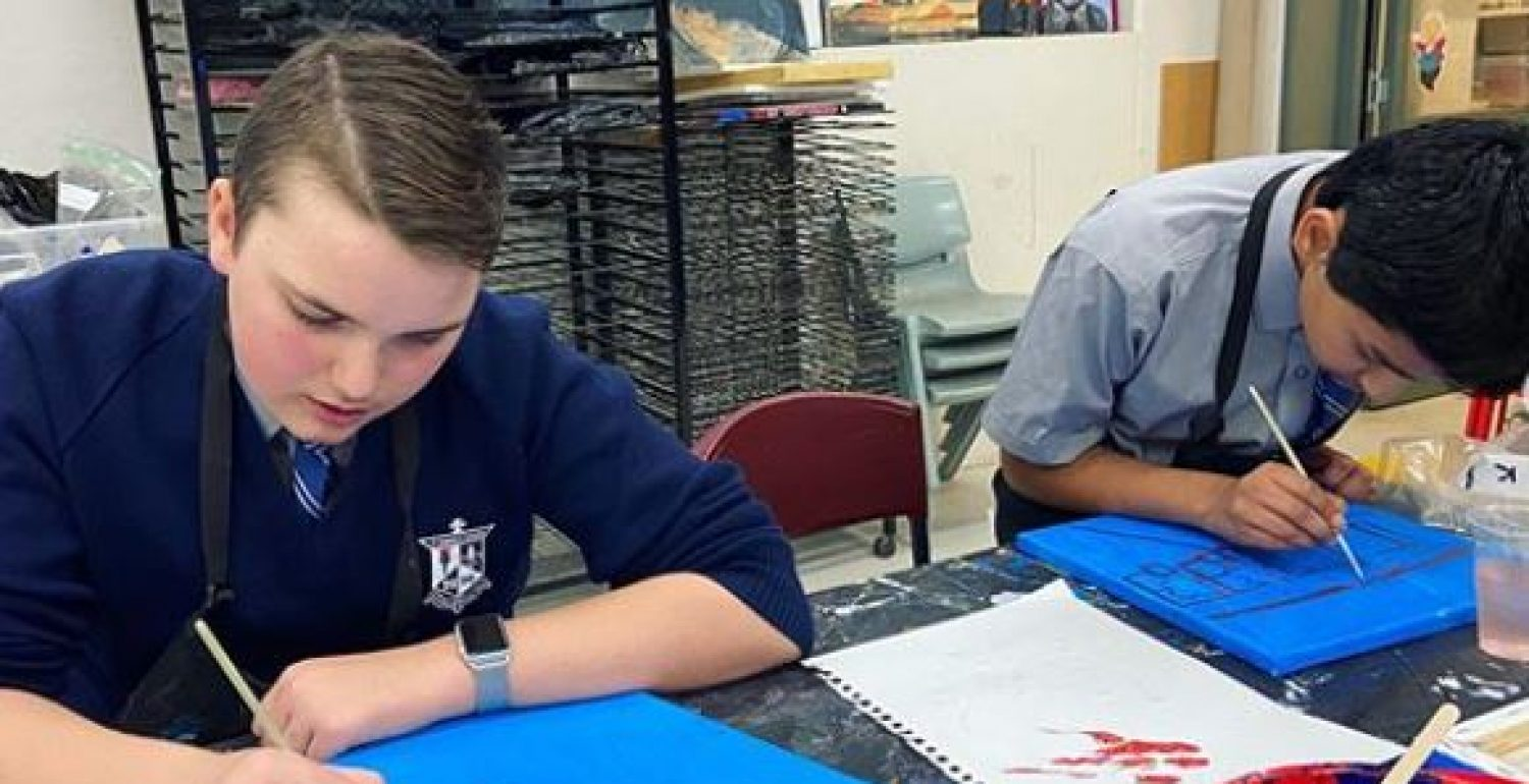Year 7 Art Class – Practical Learning