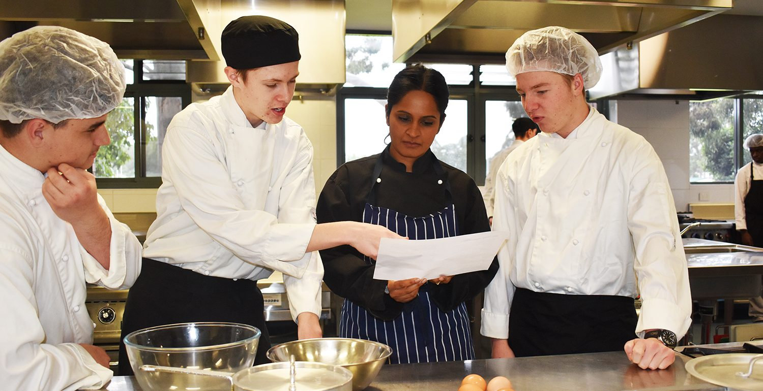 Year 12 Hospitality Students Cooking Up an Italian Favourite