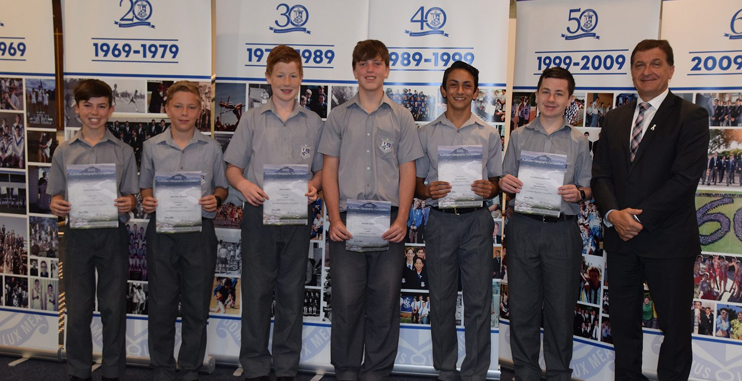 2020 Australian Geography Competition High Achievements