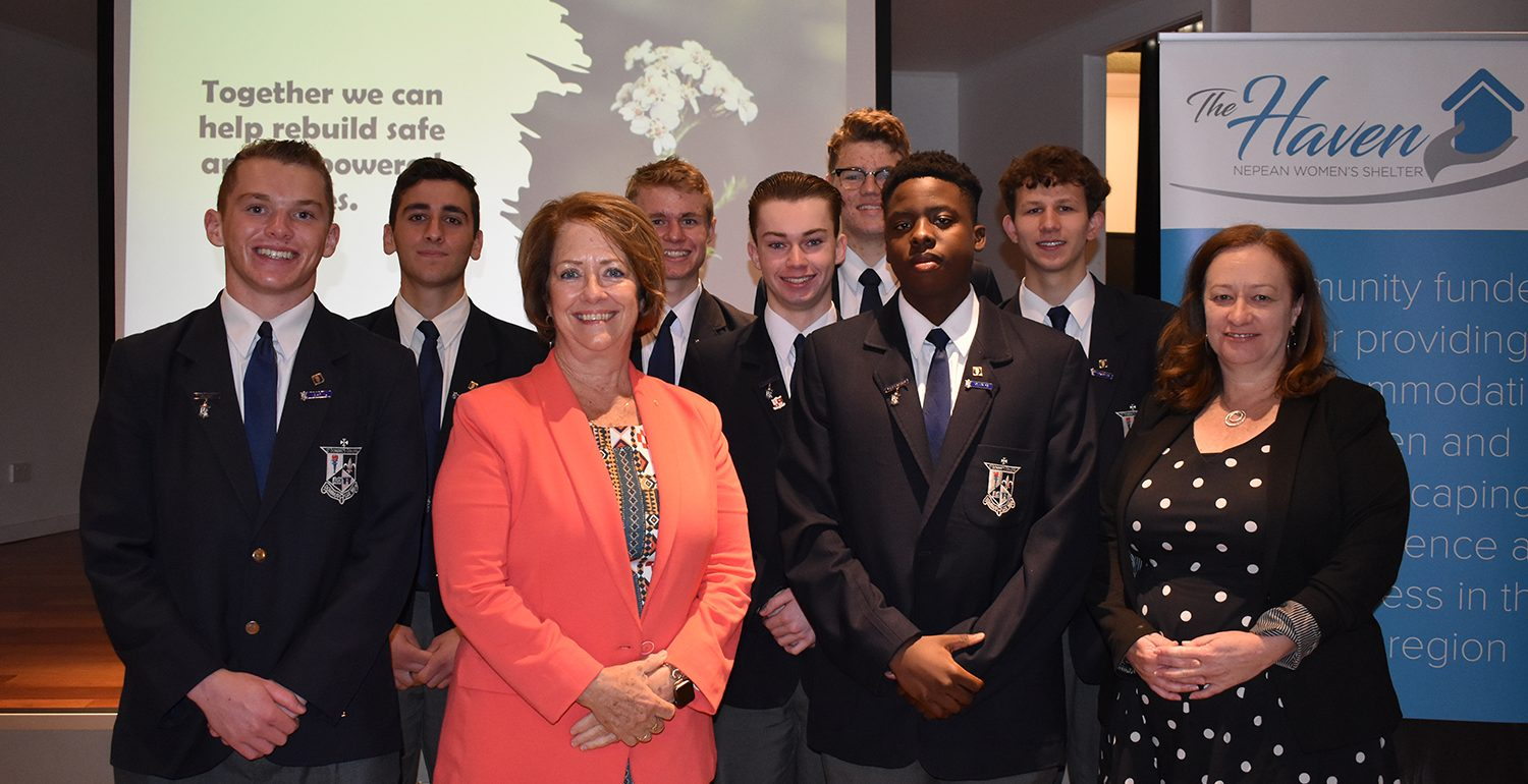 College Prefects Attend Fundraising Breakfast